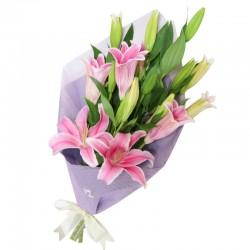 Ramo de 5 Lilium perfumado