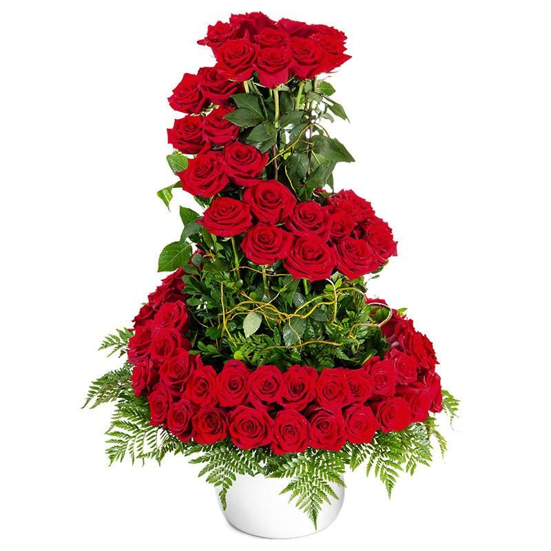 100 Red Roses Arrangement