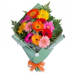 Bouquet of 12 assorted gerberas