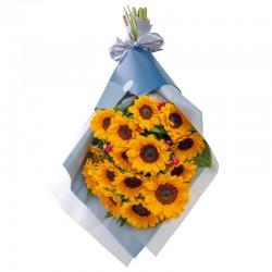 Premium Bouquet with 15 Sunflowers