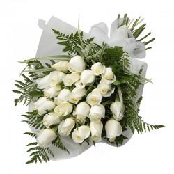 Ramo premium de 24 rosas blancas