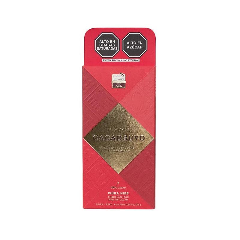 Chocolate Tableta Cacaosuyo Piura Nibs 70 Gr