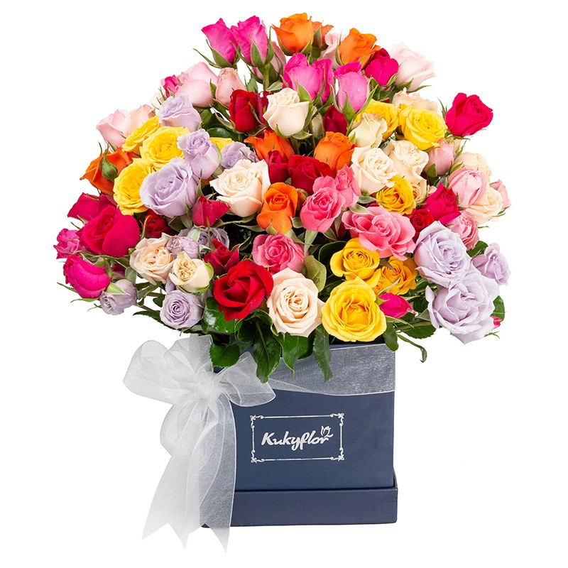 Box Mini Mixed Roses
