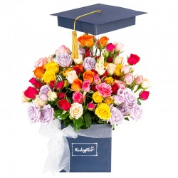 Square Box with Graduated Minirosas