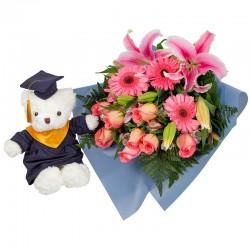 Ramo Premium Mixto con Rosas Lilium Alstroemerias y Gerberas con Dany