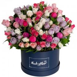 Box bajo con mini rosas pasteles