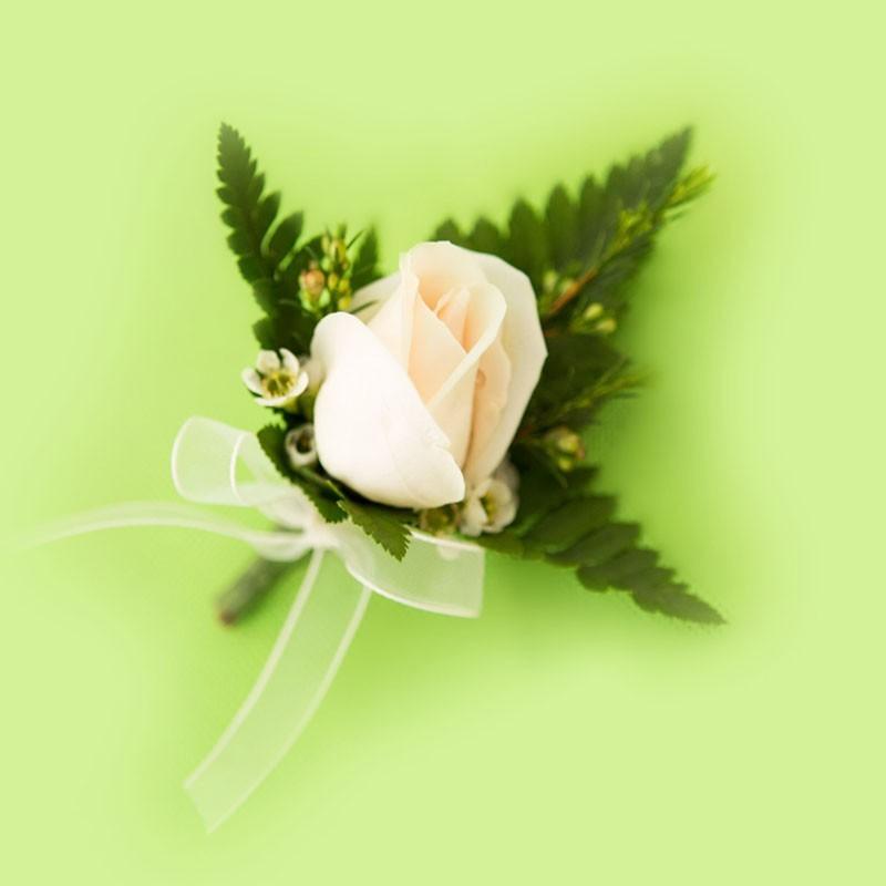 Botonier de Rosa Blanca